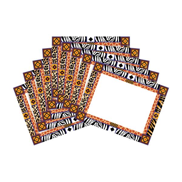 Barker Creek Name Tags, 3 3/4  x 2 1/2 , Safari, 45 Name Tags Per Pack, Case Of 2 Packs