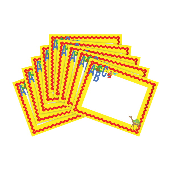 Barker Creek Name Tags, 3 3/4  x 2 1/2 , ABC Animals, 45 Name Tags Per Pack, Case Of 2 Packs