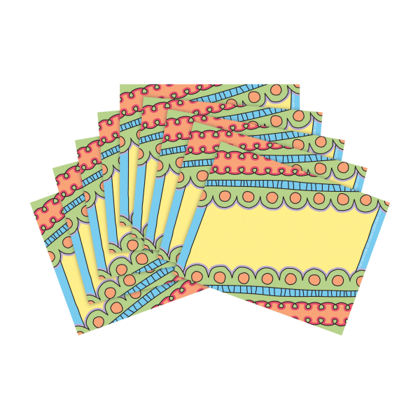 Barker Creek Name Tags, 3 3/4  x 2 1/2 , Pink Lemonade, 45 Name Tags Per Pack, Case Of 2 Packs
