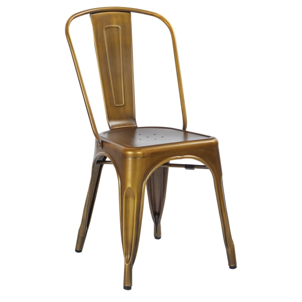 Office Star Bristow Armless Chair, Brushed Copper, Set Of 4 Chairs