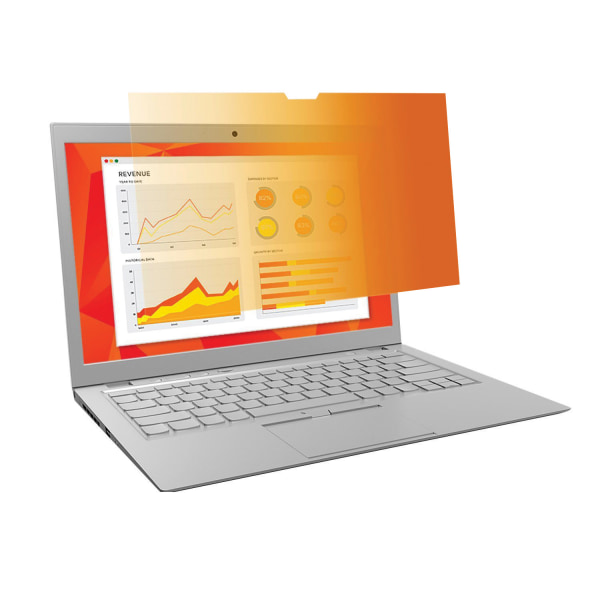 3M Gold Touch Privacy Filter with COMPLY For Laptops, 14.0  Full Screen (16:9)