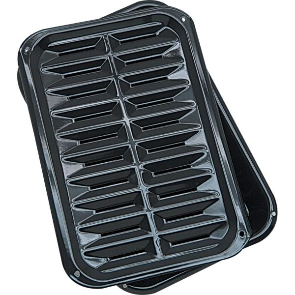 Range Kleen BP106X Griddle - 13  Length 8.50  Width Griddle, 13  Length 8.50  Width Broiler - Porcelain - Dishwasher Safe
