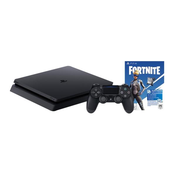 Sony PlayStation 4 Slim Console With Fortnite Neo Versa Bundle, 1TB, Black
