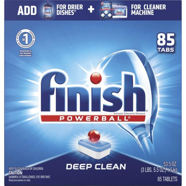 Finish Deep Clean Dishwasher Pod - 85 / Box - Red, White, Blue