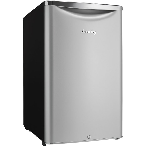 Danby 4.4 Cu.ft. Compact Refrigerator - 4.40 ft - Auto-defrost - Reversible - 4.40 ft Net Refrigerator Capacity - Metallic - Chrome Handle, Glass Sh