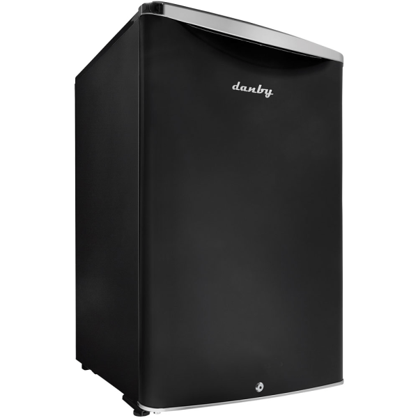 Danby 4.4 Cu.ft. Compact Refrigerator - 4.40 ft - Auto-defrost - Reversible - 4.40 ft Net Refrigerator Capacity - 268 kWh per Year - Black - Metalli