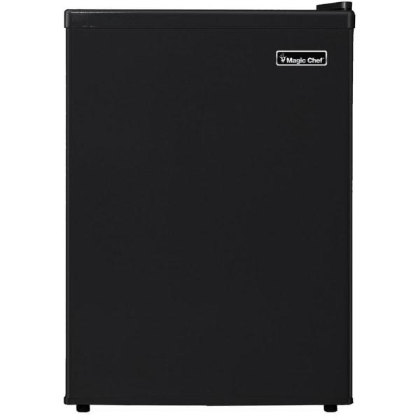 Magic Chef 2.4 cu. ft. Mini Refrigerator - 2.40 ft - Manual Defrost - Reversible - 2.10 ft Net Refrigerator Capacity - 0.30 ft Net Freezer Capacity