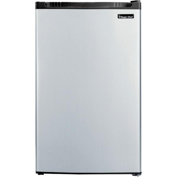 Magic Chef 4.4 cu. ft. Mini Refrigerator - 4.40 ft - 4.40 ft Net Refrigerator Capacity - Stainless Steel - Glass Shelf