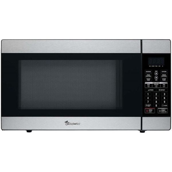 Magic Chef MCD1811ST Microwave Oven - Single - 13.46 gal Capacity - Microwave - 10 Power Levels - 1000 W Microwave Power - Countertop - Stainless Stee