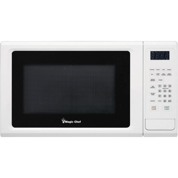 Magic Chef MCM1110W Microwave Oven - Single - 8.23 gal Capacity - Microwave - 10 Power Levels - 1000 W Microwave Power - 9  Turntable - Countertop - W