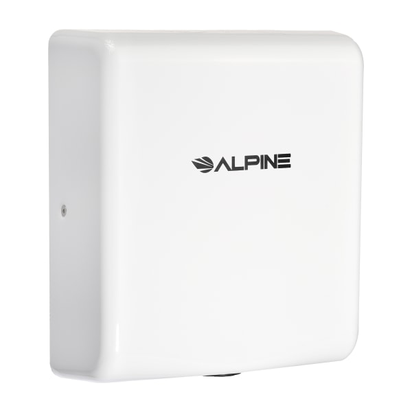Alpine Industries Willow 220 Volt Steel Electric Commercial Stainless Steel Automatic Touchless Hand Dryer, White