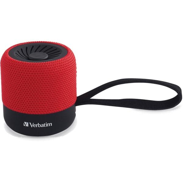 Verbatim Wireless Mini Bluetooth Speaker - Speaker - for portable use - Bluetooth - 3 Watt - red