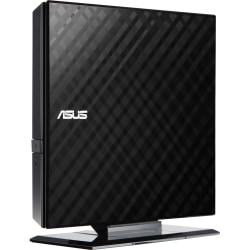 Asus SDRW-08D2S-U DVD-Writer - Retail Pack - DVD-RAM/±R/±RW Support - 24x CD Read/24x CD Write/16x CD Rewrite - 8x DVD Read/8x DVD Write/8x DVD Rewrite - Double-layer Media Supported - USB 2.0 - Slimline