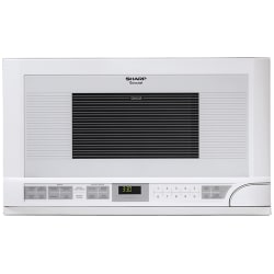 """Sharp R1211T Microwave Oven - Single - 11.22 gal Capacity - Microwave - 11 Power Levels - 1100 W Microwave Power - 14.13"""" Turntable - Over The Range - White"""
