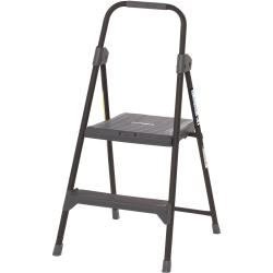 Louisville 2' Steel Domestic Step Stool - 2 Step - 225 lb Load Capacity - Gray