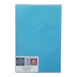 """Gartner Studios® Envelopes, 5 3/4"""" x 8 3/4"""", Blue, Pack Of 50"""