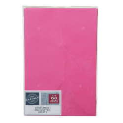 "Gartner Studios® Envelopes, 5 3/4"" x 8 3/4"", Pink, Pack Of 50"