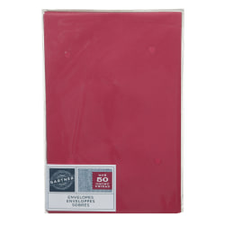 "Gartner Studios® Envelopes, 5 3/4"" x 8 3/4"", Red, Pack Of 50"