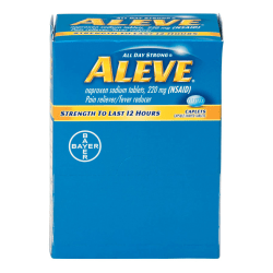 Aleve® Pain Reliever Tablets, 1 Tablet Per Packet, Box Of 50 Packets