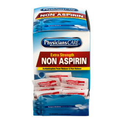PhysiciansCare Non Aspirin Acetaminophen Pain Reliever Medication, 2 Tablets Per Packet, Box Of 50 Packets