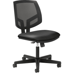 HON® Volt Bonded Leather Mid-Back Chair, Black