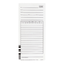 """Acroprint Weekly Time Cards For Acroprint ES1000 Atomic Totalizing Payroll Recorder , 10"""" x 4"""", Beige, Pack Of 100"""