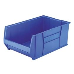 """Akro-Mils Heavy-Duty Stackable Storage Bin, 12"""" x 18 2/5"""" x 29 1/4, Blue"""