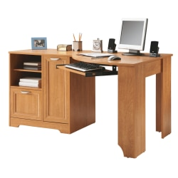 Realspace® Magellan Corner Desk, Honey Maple