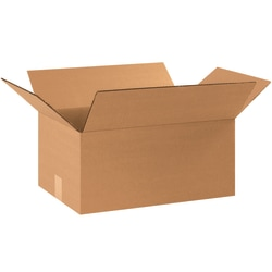 """Office Depot® Brand Corrugated Boxes, 9""""H x 11 1/4""""W x 17 1/4""""D, 15% Recycled, Kraft, Bundle Of 25"""
