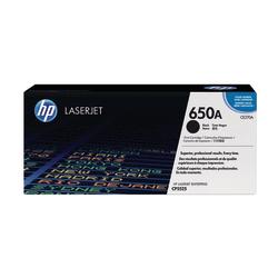 HP 650A Black Original Toner Cartridge (CE270A)