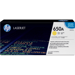 HP 650A, Yellow Original Toner Cartridge (CE272A)