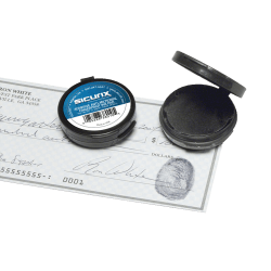 """Baumgartens® Fingerprint Ink Pad, 1 7/8"""" x 1 7/8"""" x 1/2"""", Black/Black Ink"""