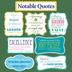 Scholastic Teacher's Friend Notable Quotes Bulletin Board Set, Grades 3-6