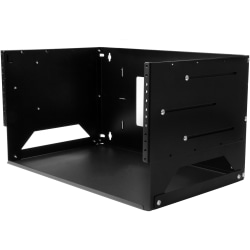 StarTech.com 4U Wallmount Server Rack with Built-in Shelf - Solid Steel - Adjustable Depth 12in to 18in - Mount your server network and telecom devices to the wall while storing your non-rackmountable equipment on the built-in shelf