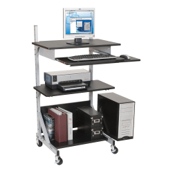 Balt Alekto-3 Totally Adjustable Workstation, Black/Silver
