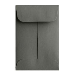 """LUX Coin Envelopes, #1, 2 1/4"""" x 3 1/2"""", Smoke, Pack Of 250"""