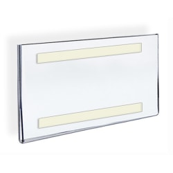 """Azar Displays Acrylic Sign Holders With Adhesive Tape, 5"""" x 7"""", Clear, Pack Of 10"""