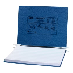 Wilson Jones® Presstex® Data Binder With Retractable Hooks, 60% Recycled, Dark Blue