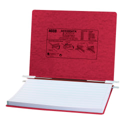 Wilson Jones® Presstex® Data Binder With Retractable Hooks, 60% Recycled, Executive Red
