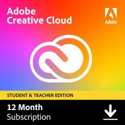 Adobe® Creative Cloud® Student & Teacher Edition Membership, 1-Year Subscription, Download