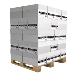 "White Copy Paper Pallet, Letter Size (8 1/2"" x 11""), 20 Lb, Ream Of 500 Sheets, 10 Reams Per Carton, Pallet Of 40 Cartons"