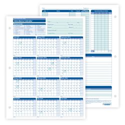 "ComplyRight™ 2021-2022 Fiscal Attendance Calendar, 8 1/2"" x 11"", Pack Of 50"
