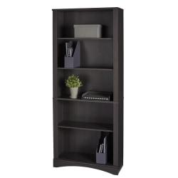 "Realspace® Pelingo 72""H 5-Shelf Bookcase, Dark Gray"