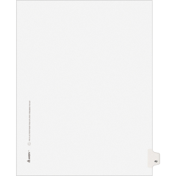 """Avery® Avery-Style Collated Legal Index Exhibit Dividers, 8 1/2"""" x 11"""", White Dividers/White Tabs, 49, Pack Of 25"""