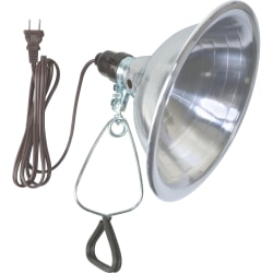 """Woods 18/2 SPT-2 6' White Clamp Lamp With 8-1/2"""" Reflector"""
