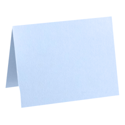 "LUX Folded Cards, A6, 4 5/8"" x 6 1/4"", Baby Blue, Pack Of 50"