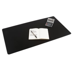 "Realspace® Ultra-Smooth Writing Surface With Antimicrobial  Protection,  19 3/10"" H X 35 2/5"" W , Black"