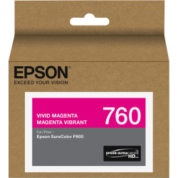 Epson UltraChrome HD T760 Original Ink Cartridge - Inkjet - Vivid Magenta - 1 Each