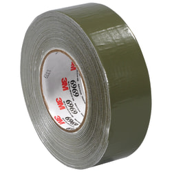 "3M™ Highland™ 6969 Duct Tape, 3"" Core, 2"" x 180', Olive Green, Case Of 3"