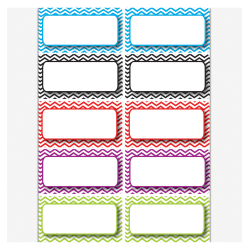 "Ashley Productions Die-Cut Magnetic Nameplates, Color Chevron, 3""H x 1 1/2""W x 1/16""D, Assorted Colors, 10 Nameplates Per Pack, Set Of 5 Packs"